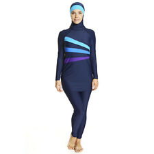 Zoggs Womens Meelup Modesty Suit Burkini Swimming Suit Size 12 Blue RRP £100