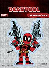 Marvel Deadpool Cartoon Guns Car Window Decal Sticker Auto - Official
