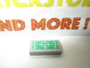 Lego 1x Tile Decorated 1x2 Green Target Head-Up Display 7708 Pattern 3069bpb145