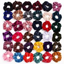 100 piezas Bandas Para El Cabello scrunchies Terciopelo Elástico Para El Cabello Broche lazos para el cabello Amarras scrun