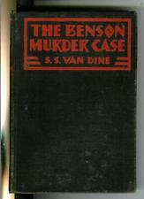 THE BENSON MURDER CASE by Van Dine, rare US Scribners 1926 1st crime hardcover