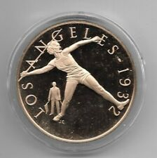 LOS ANGELES 1932 Mildred Didrikson HISTORY OF THE OLYMPIC GAMES Bronze Coin