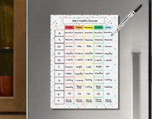 Home School, daily schedule, weekly learning, weekly organisation, kids planner