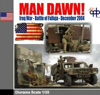 1/35 Built US WAR Diorama MAN DAWN Falluja HMMWV Hummer Humvee APC IFV's Battle