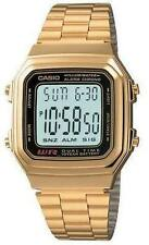 CASIO A178WGA-1A Standard Digital Unisex 10 Years Battery Life Bracelet Gold
