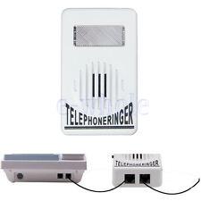 Amplifier Strobe Light Flasher Bell Extra-Loud Telephone Ringer Phone Ringer TW