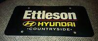 Dealer License plate ETTLESON HYUNDAI COUNTRYSIDE ILLINOIS chicago area BLACK