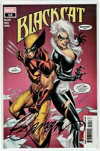 Black Cat #10 (May 2020, Marvel) NM Retail Cover, Signed by J Scott Campbell COA