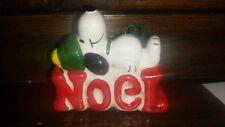 Snoopy Ceramic Ornament Noel Ornament Excellent