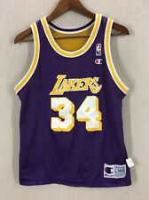 Vintage Shaquille O'Neal Shaq Champion Reversible Lakers Jersey Youth Large