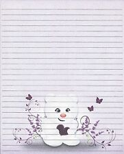 Teddy Bear With Heart Fine Lined Stationery Set, with 25 sheets and 10 envelopes