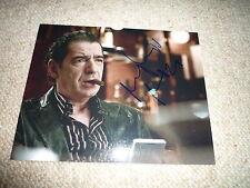 MIKI MANOJLOVIC  signed Autogramm In Person 20x25 cm IRINA PALM , LARGO WINCH