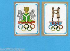 MUNCHEN/MONACO '72-PANINI-Figurina/Stemma n.74- NIGERIA+NORVEGIA -Rec