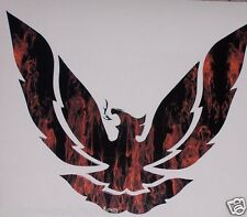 "Small REAL FIRE Printed phoenix firebird 9.5"" x 8""  Window Decal Decals Ram Air"