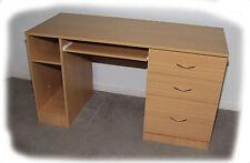 King Kong Beech or White 3 Drawer Computer Desk - BRAND NEW