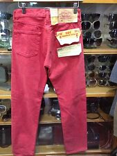 Vintage LEVI'S red Jeans 501 Wiast 29 X34 Brand New Deadstock pink red