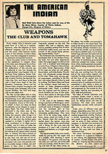 The American Indian: Weapons: The Club and the Tomahawk+Algonquian,Aztec,Chipp