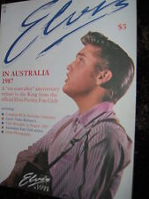 "Elvis Presley  ""Elvis In Australia 1987""  10 years Anniversary Tribute Magazine"