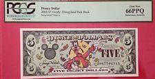 2000A $5 Goofy Goofy $5 Disney Dollar Graded By PCGS Gem New 66PPQ A00770691A