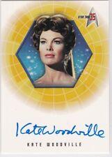 STAR TREK THE ORIGINAL SERIES 35TH ANNIVERSARY A34 KATE WOODVILLE AUTOGRAPH