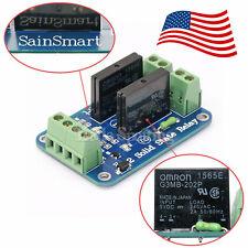 SainSmart 2-Chl 5V Solid State Relay OMRON SSR for Arduino AVR Robotics US STOCK