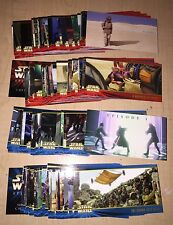 TOPPS Widevision Star Wars Episode I Series 1 & 2 Complete 160 Card Set USA!