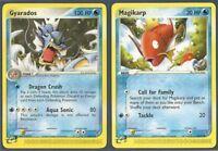 2003 NINTENDO GYARADOS #32/97 & MAGIKARP #60/97- Ex DRAGON Pokemon Card -NM/MINT