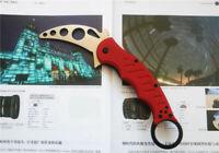 Karambit G10 Handle Folding Metal Blade Trainer Training Knife Saber NEW