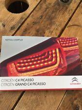 Manuel D Utilisation Citroën C4 Picasso Et Grand C4 Picasso