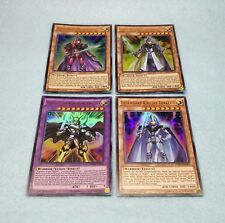 Yugioh Legendary Dragon Knight Set Timaeus Critias Hermos 4 Cards Ultra Rare