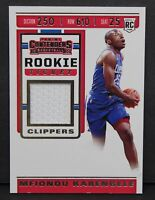 2019-20 Panini Contenders Mfiondu Kabengele Rookie Ticket Jersey Patch Card RC