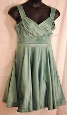 women's green dressy dress by Mod Cloth size large bridesmaids formal crinoline
