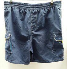 Speedo Blue Short Size Large Swimming Yellow Pockets <C2410