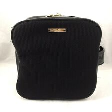 Giorgio Armani Parfums Bag Pouch Cosmetic Make Up Case Storage Clutch Zip Black