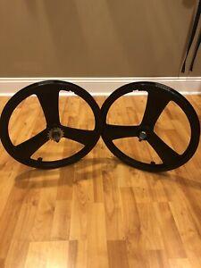 "Mid School OGK JAPAN 3 Spoke Mag Wheelset 20 x 1.75"" Suzue HUBS, BMX"
