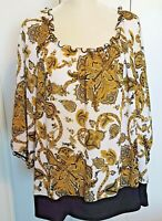 Cato Woman Woman's Blouse Polyester Blouson Scoop Neck 3/4 Sleeve Size 22/24W