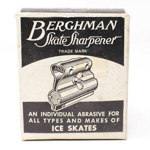 Vintage Berghman Skate Sharpener Original Box Never Used Hockey Ice Skates USA