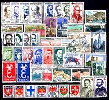 France année complète 1958 Yvert n° 1142 à 1188 oblitérés 1er choix
