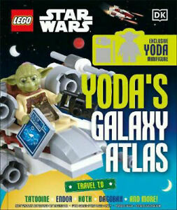 2 X LEGO Star Wars Books - Yoda's Galaxy Atlas & Chronicles of the Force - NEW