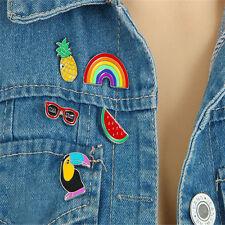 5PCS Hawaii Acrylic Lovely Jewellery Collar Pin Badge Corsage Cartoon Brooch