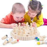 Wooden Memory Match Stick Chess Game Children Kids Puzzle Educational Toys Top