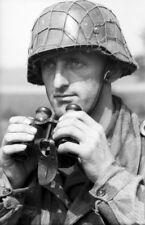 WW2 Photo WWII German Soldier with Binoculars  World War Two Wehrmacht / 2436