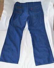 Vtg Levis Orange Tab Jeans 1970s Rare Triple Stitch Talon 42 Mens Actual 36x30