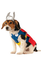 Thor Superhero Novelty Funny Dog Pet Fancy Dress Costume