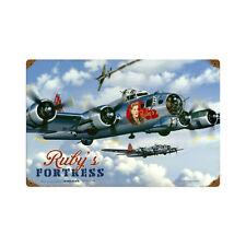 Rubys Fortress Boing B-17G Bomber 2. WK Flugzeug Retro Sign Blechschild Schild