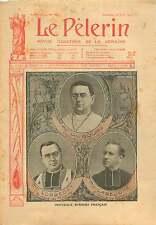 Portrait Mgr Dubourg Archevêque de Rennes Mgr Lobbedey France 1906 ILLUSTRATION