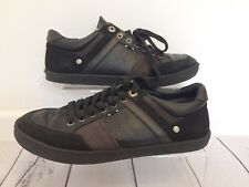 Wrangler Trainers Uk 9 Black Sneaker Style Shoes EU 43 Leather