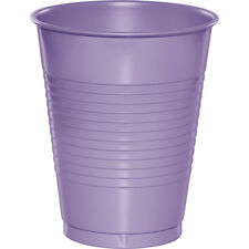 20 Luscious Lavender Wedding Birthday Party Tableware 16oz Plastic Beverage Cups