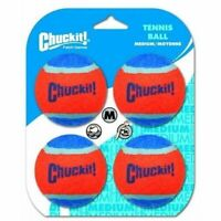 "Chuckit! TENNIS BALL - MEDIUM 2.5"" (6cm) Dia. 4pk Dog Toy"