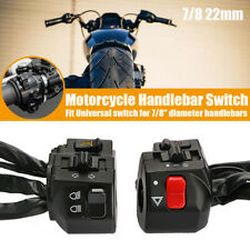"2x Motorcycle 7/8"" Handlebar Horn Turn Signal Headlight Electrical Start Switch"
